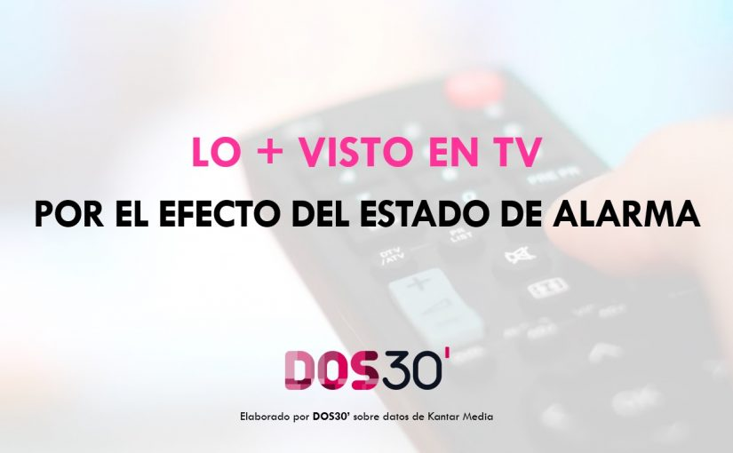 LO + VISTO EN TV POR EL ESTADO DE ALARMA